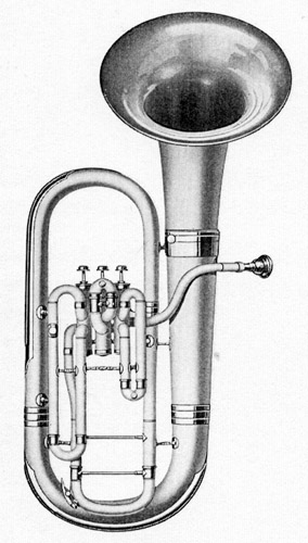 Conn 48I Wonderphone Bell Front Bb Euphonium 1924