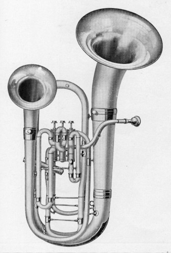 Conn 56I Wonderphone Double Bell Front Bb Euphonium 1924