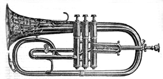 Conn New York Wonder Fluegel Horn 1899